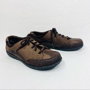 BOC/Born Women's Dodson Leather Sneaker Two Tone Brown Lace-Up - 8M - NIB